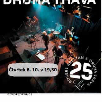Čtvrtek 6. 10. v 19,30 hodin -  Robert Křesťan a Druhá tráva, koncertní vystoupení