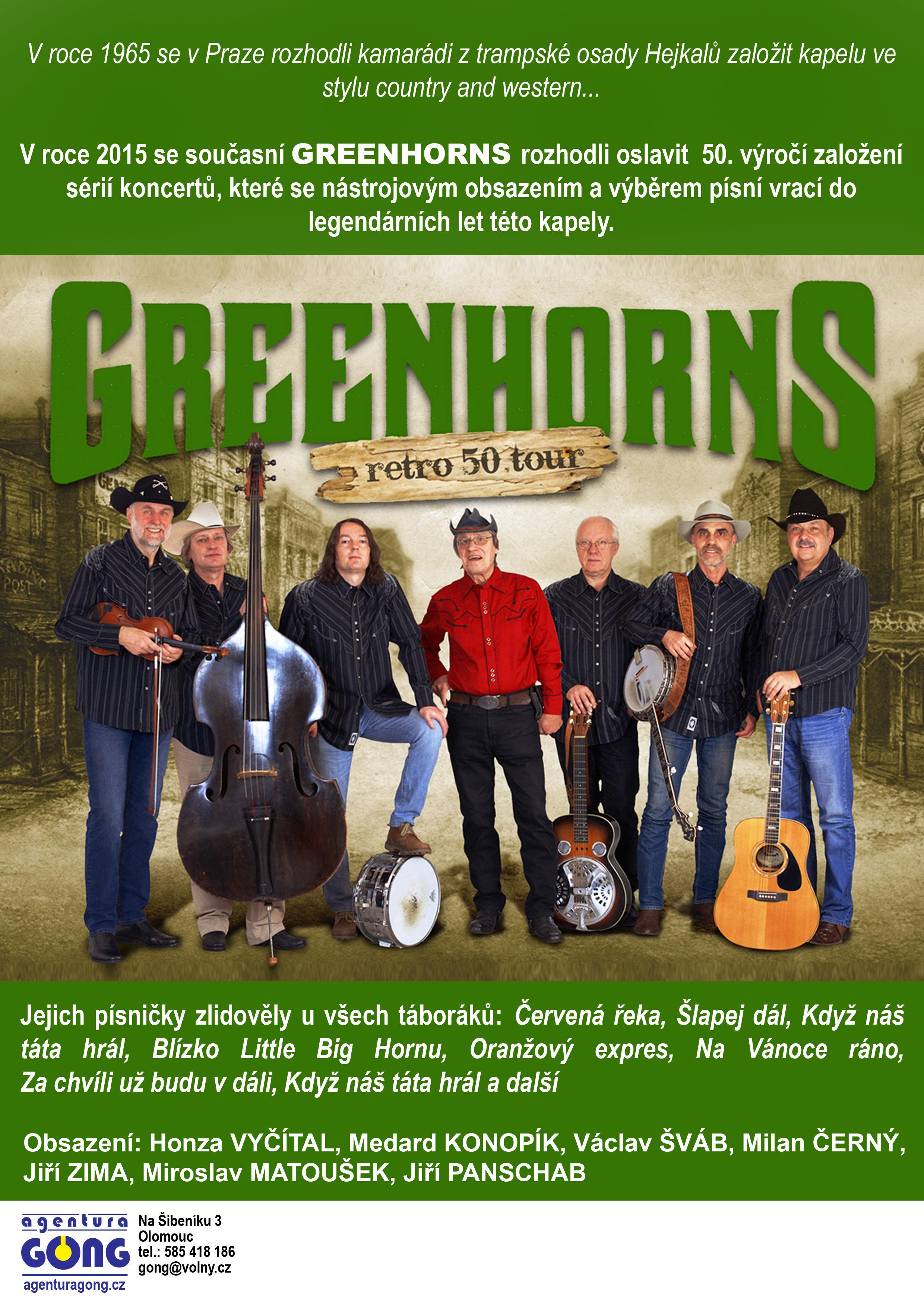 """Úterý 10. 11. v 19,30 hod. - """"GREENHORNS RETRO 50 TOUR"""" /koncert/, obrázek se otevře v novém okně"""