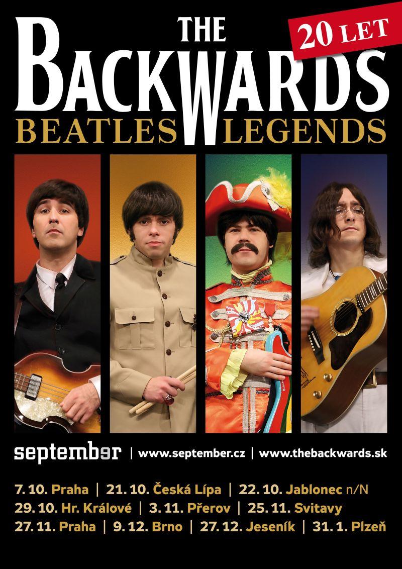 """Úterý 3. 11. v 19,30 hod. - """"THE BEATLES LEGENDS"""" /The Backwards  Beatles revival/, obrázek se otevře v novém okně"""
