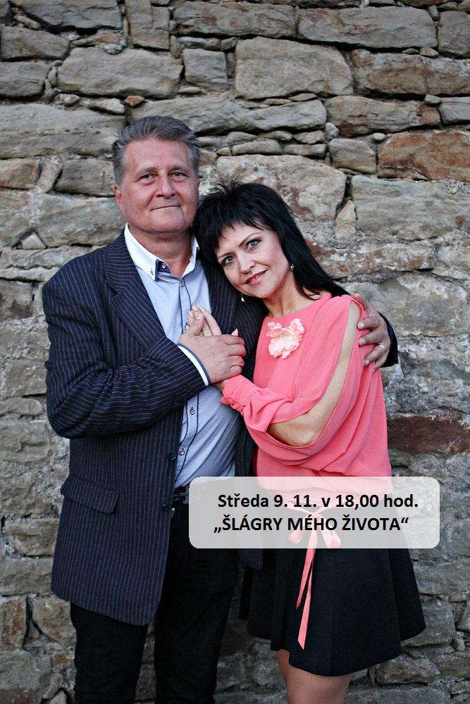 """Středa 9. 11. v 18,00 hod. - """"ŠLÁGRY MÉHO ŽIVOTA"""" /Marcel Zmožek a Mára + klávesy/, obrázek se otevře v novém okně"""